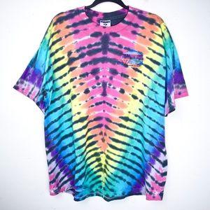*Tie Dye* Vintage 1997 Nascar T Shirt Rainbow
